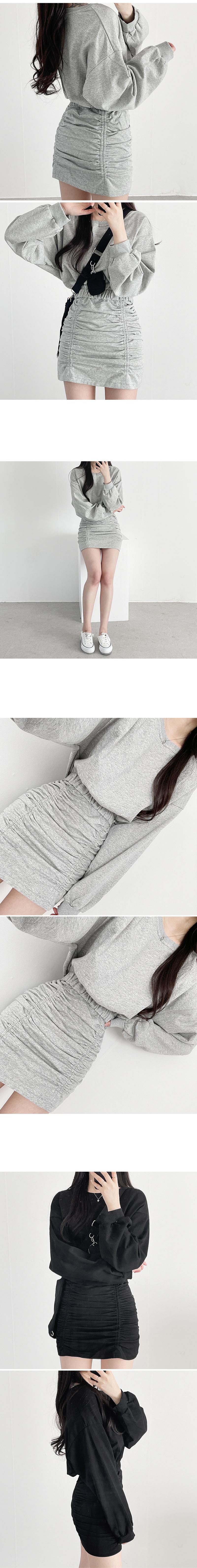 Volume cover Sweatshirt+ skirt set