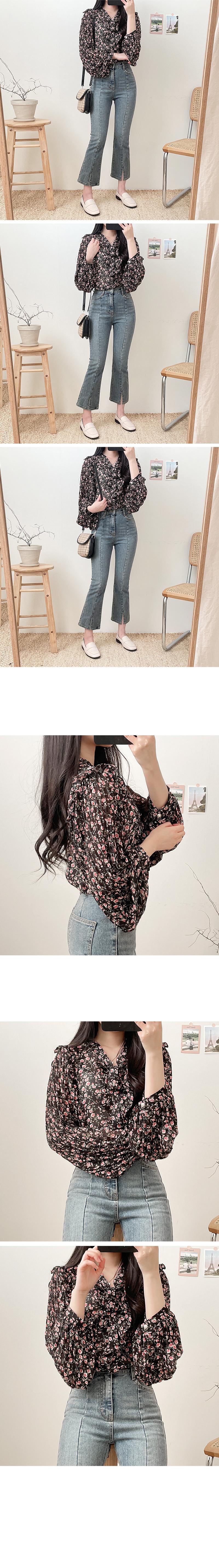 Winkle frill blouse