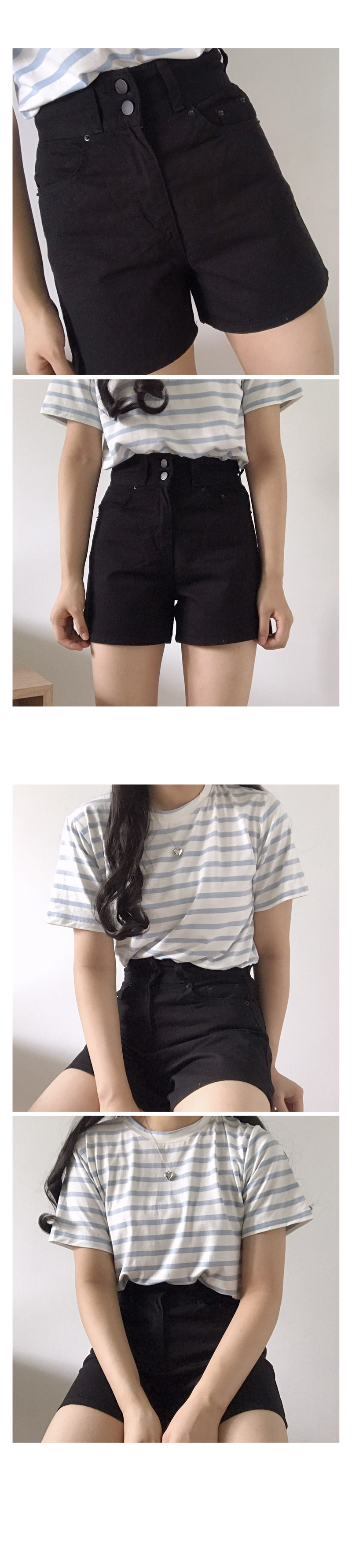 High two button short pants