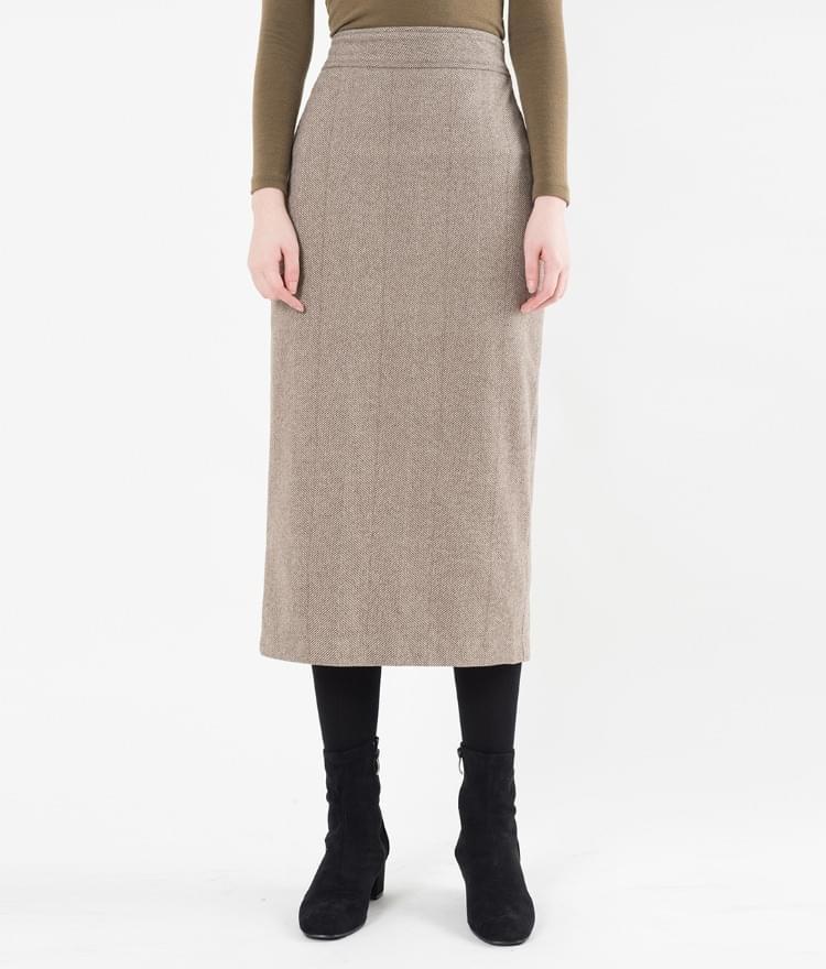 Herringbone Straight Cut Skirt