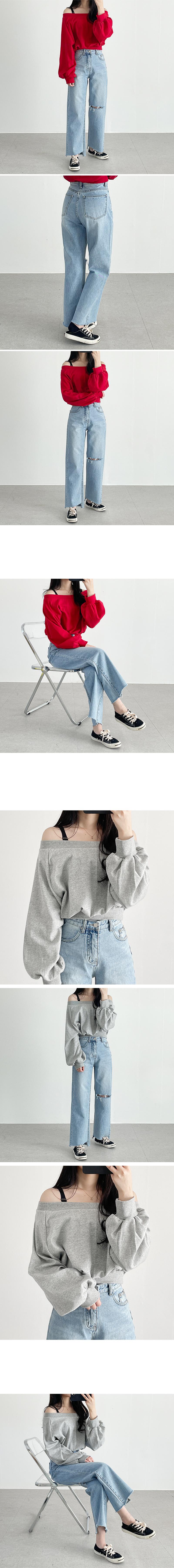 Plum Off Shoulder Crop Sweatshirt
