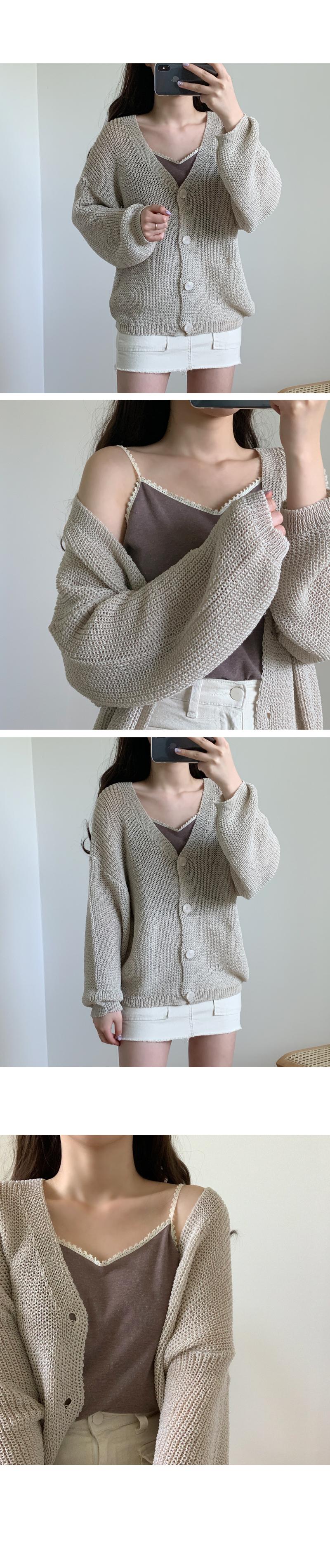 Loose weave cardigan