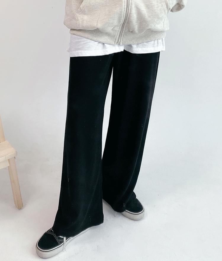 Solid Color Drawstring Waist Loose Pants
