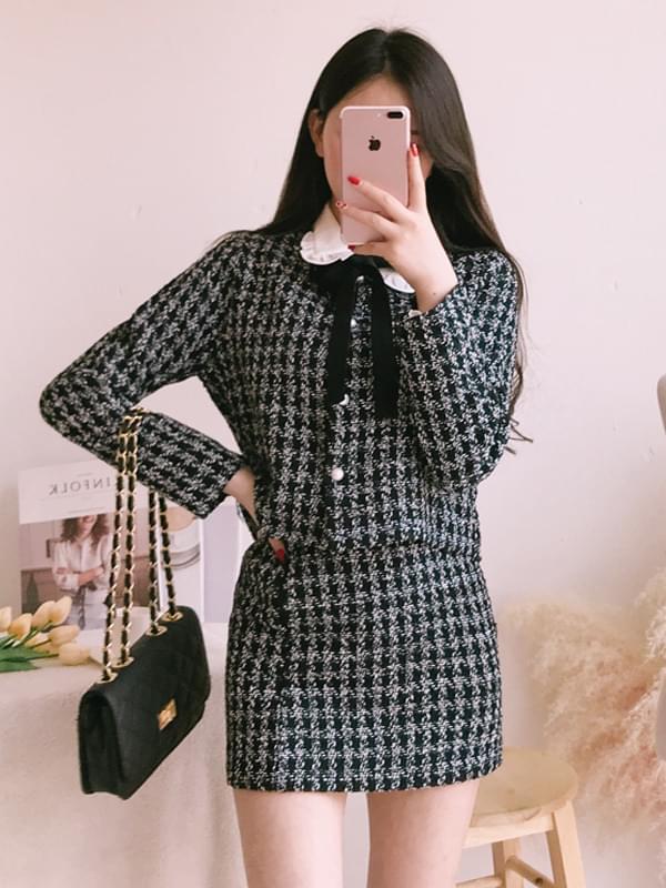 Shine Tweed Short Jacket