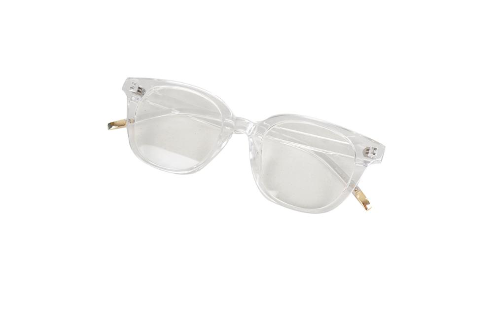 Square opaque glasses