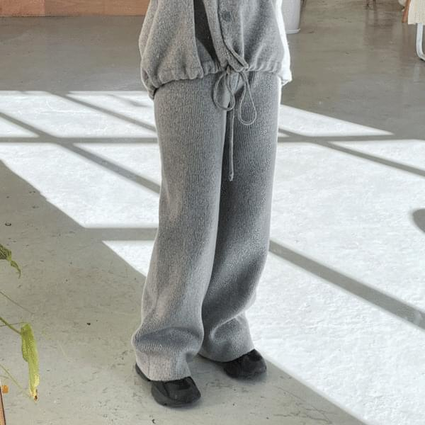 Bly Hood Cardigan + Banding Knitwear Pants