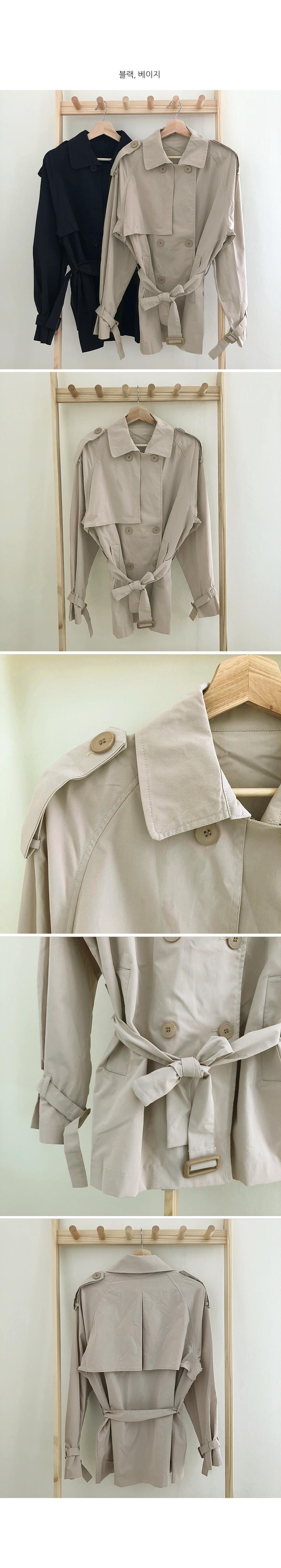 Modney half trench coat