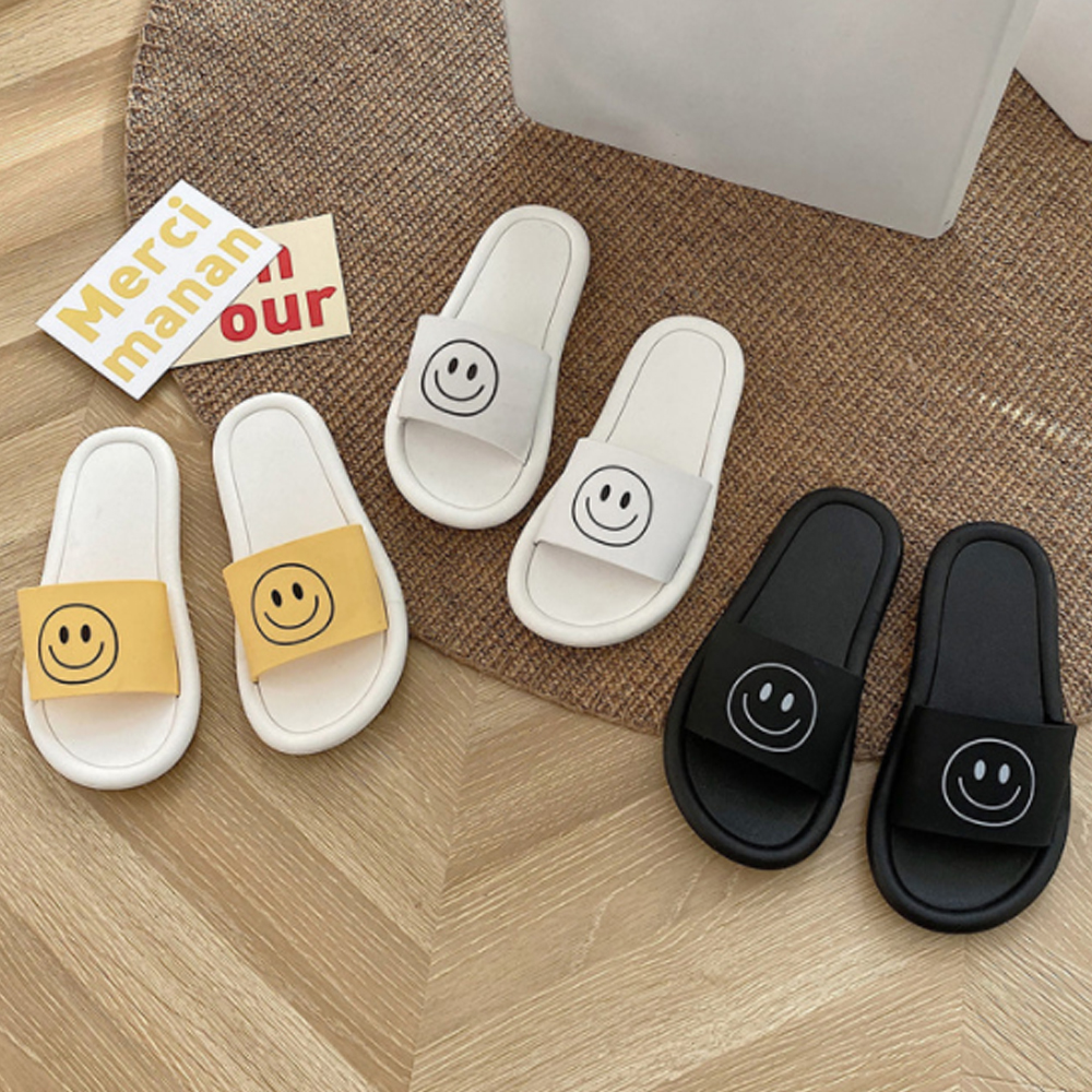 Soft and fluffy smile slippers S#JI070