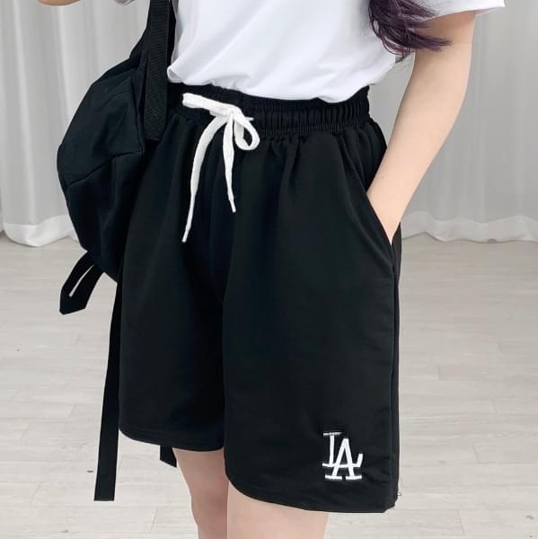 LA embroidered training pants