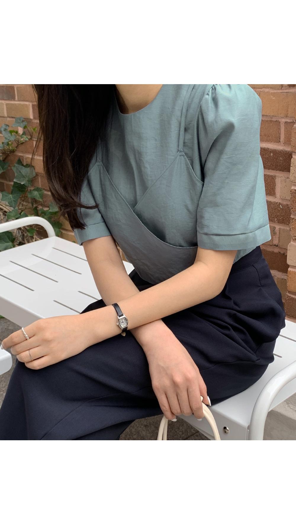 Bustier short sleeve bl