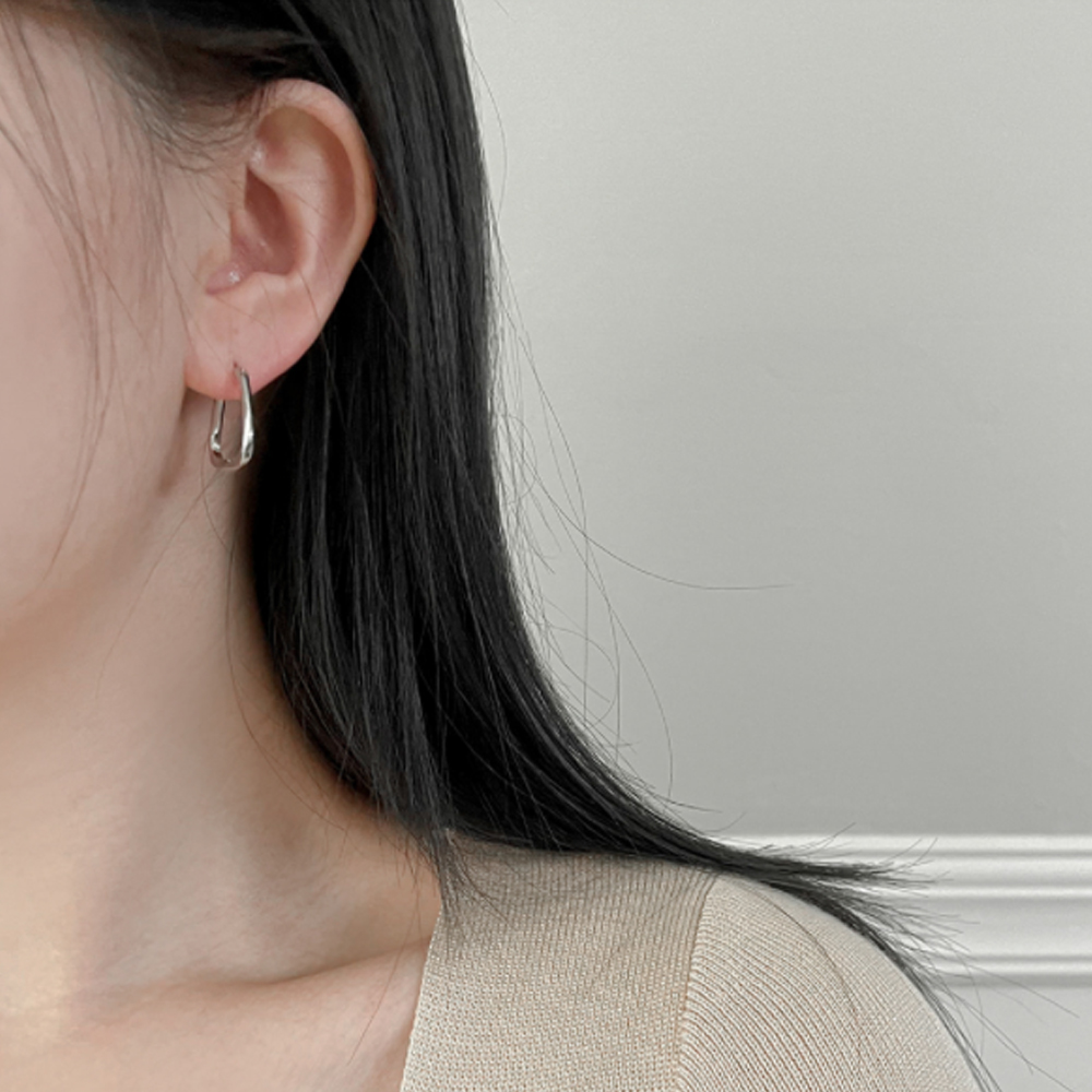 Simple Square Daily Ring Earrings A#YW010