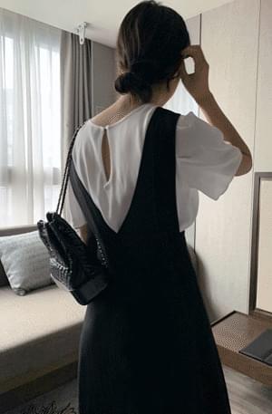 韓國空運 - Silky Rayon Pin Tuck Short Sleeve Blouse 襯衫