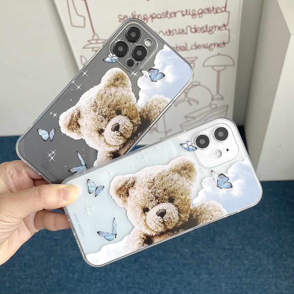 Cloud Bear Butterfly Full Cover iPhone Case