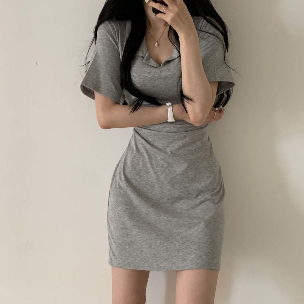 Clean Basic Collar Dress