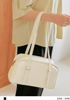 Buckle Accent Shoulder Bag