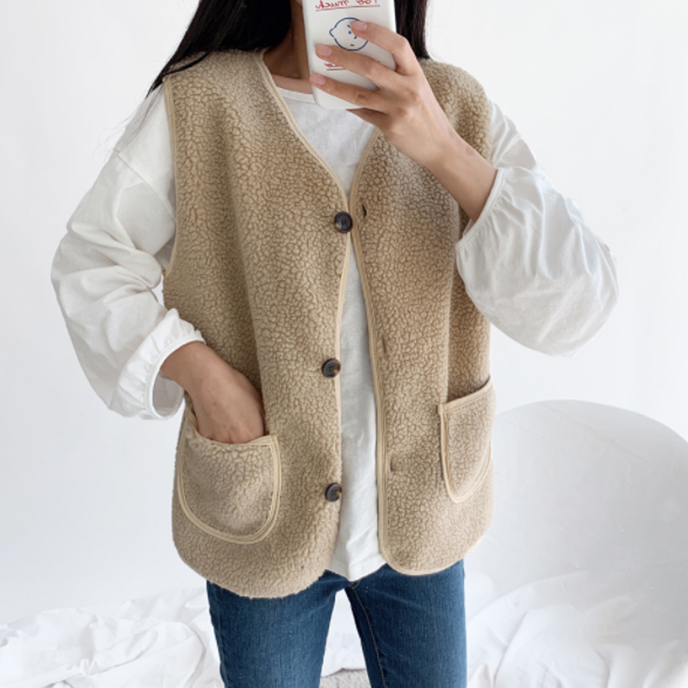 Poodle fleece vest O#YW308