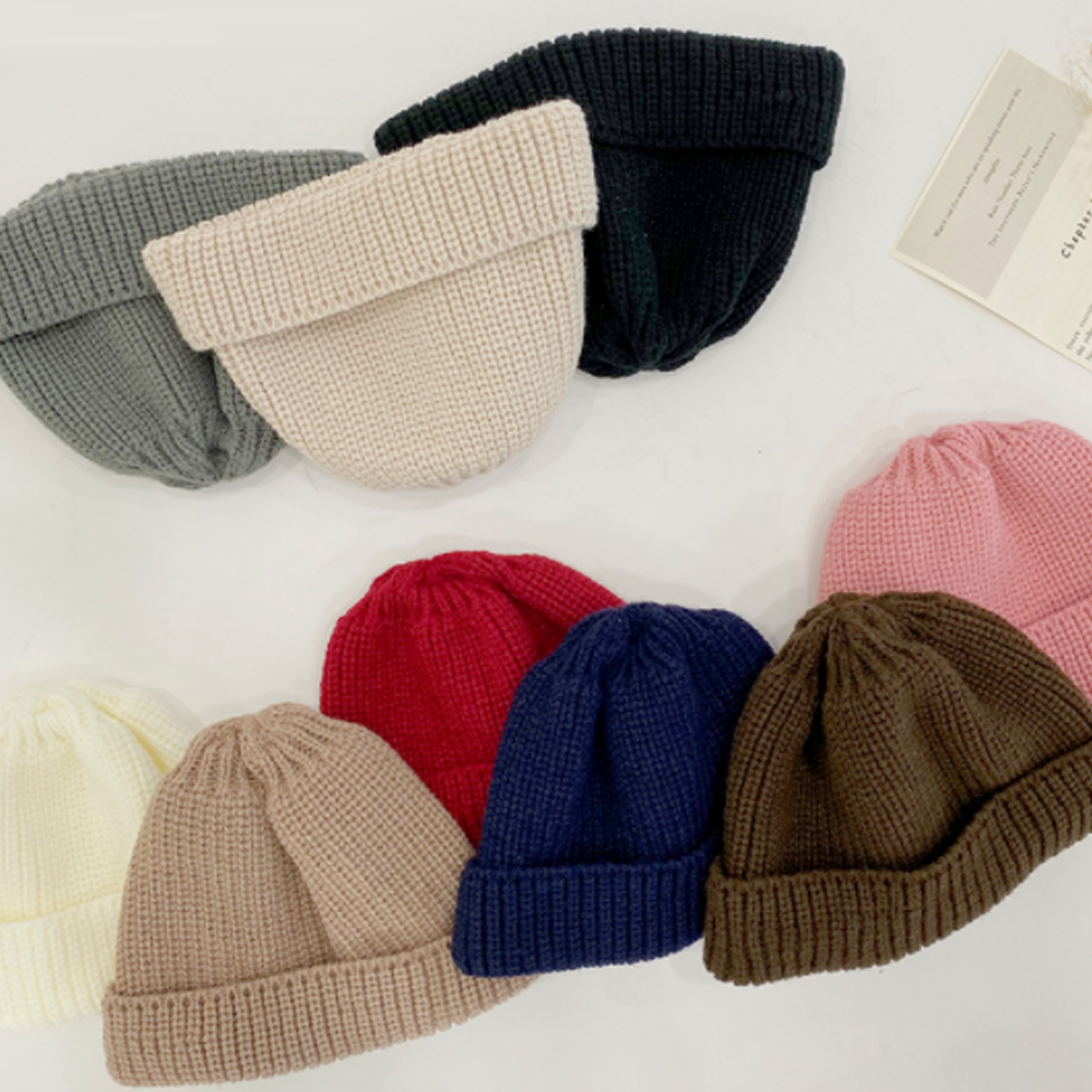 Daily Ribbed Knitwear short beanie H # YW018
