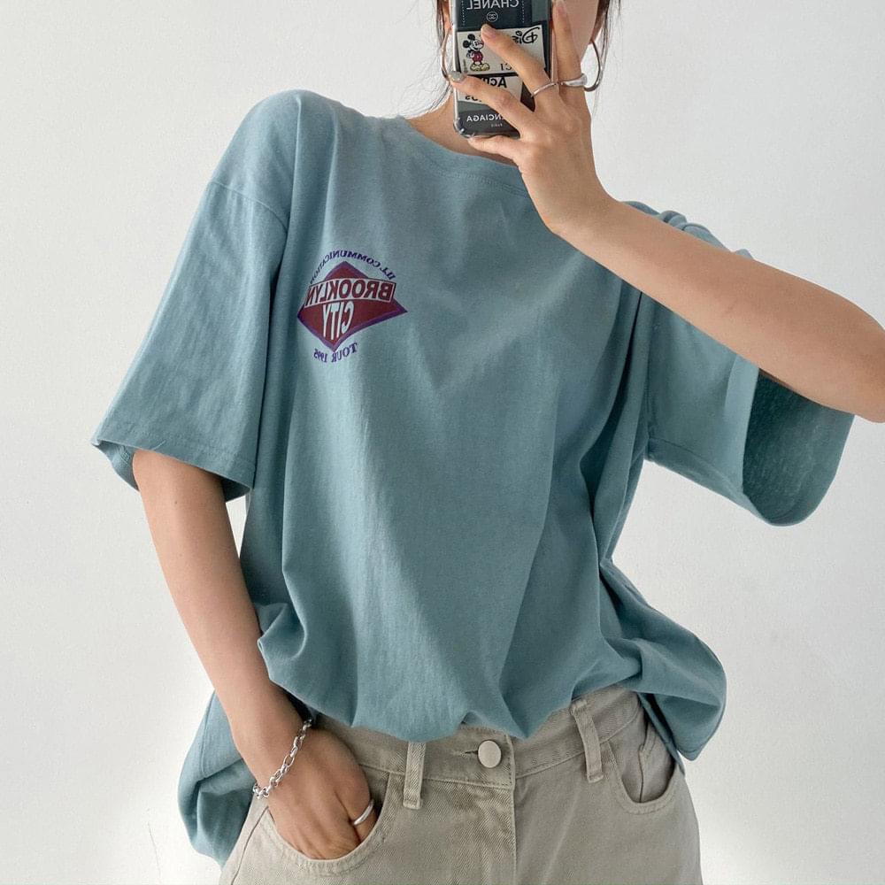 Brooklyn patch short-sleeved T-shirt