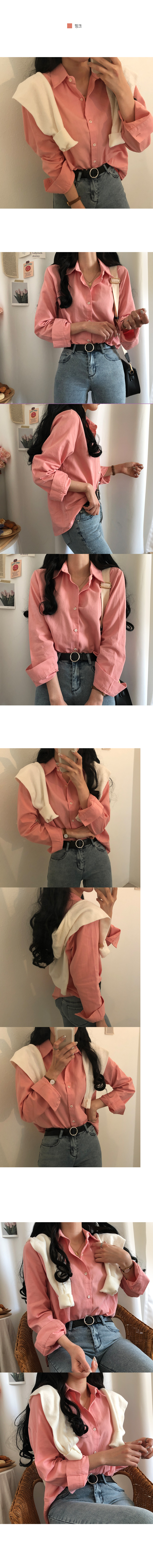 Oxford-style tantan shirt shirt