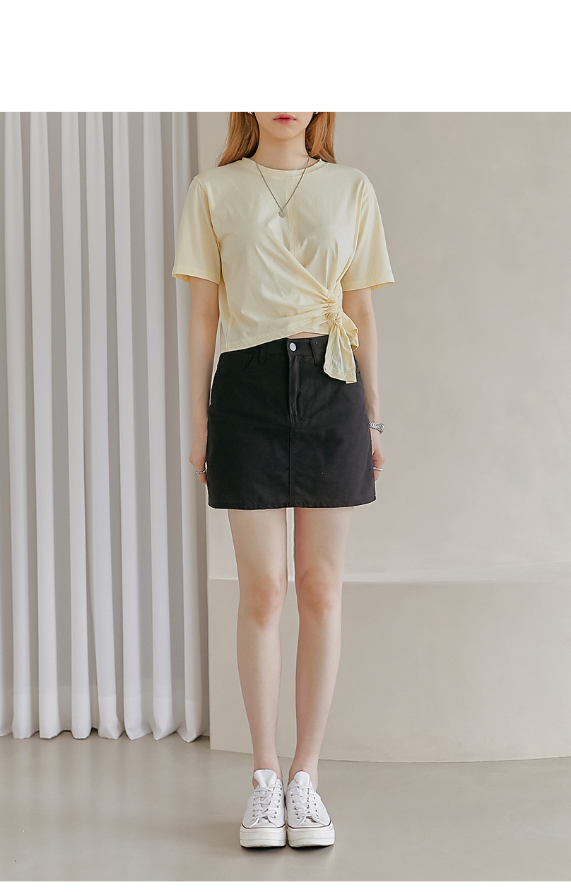 Twist Accent Cropped T-Shirt