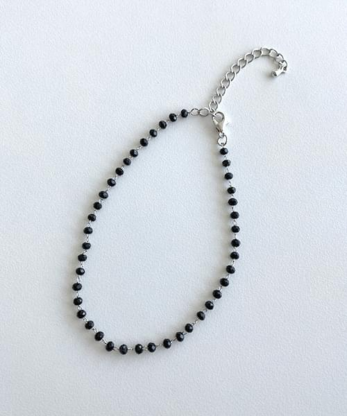 black stone ankle bracelet