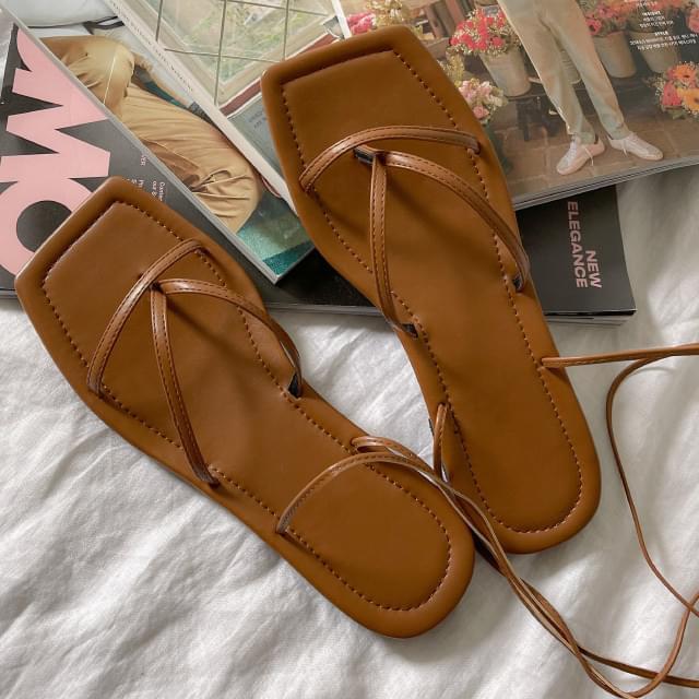 Loe twist strap sandals