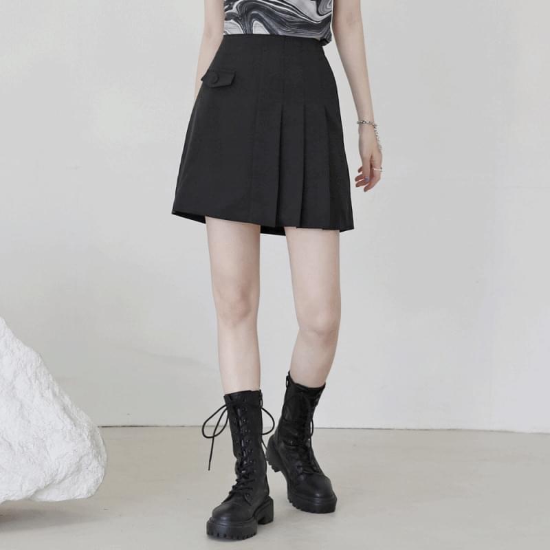 Rover half pleated mini skirt