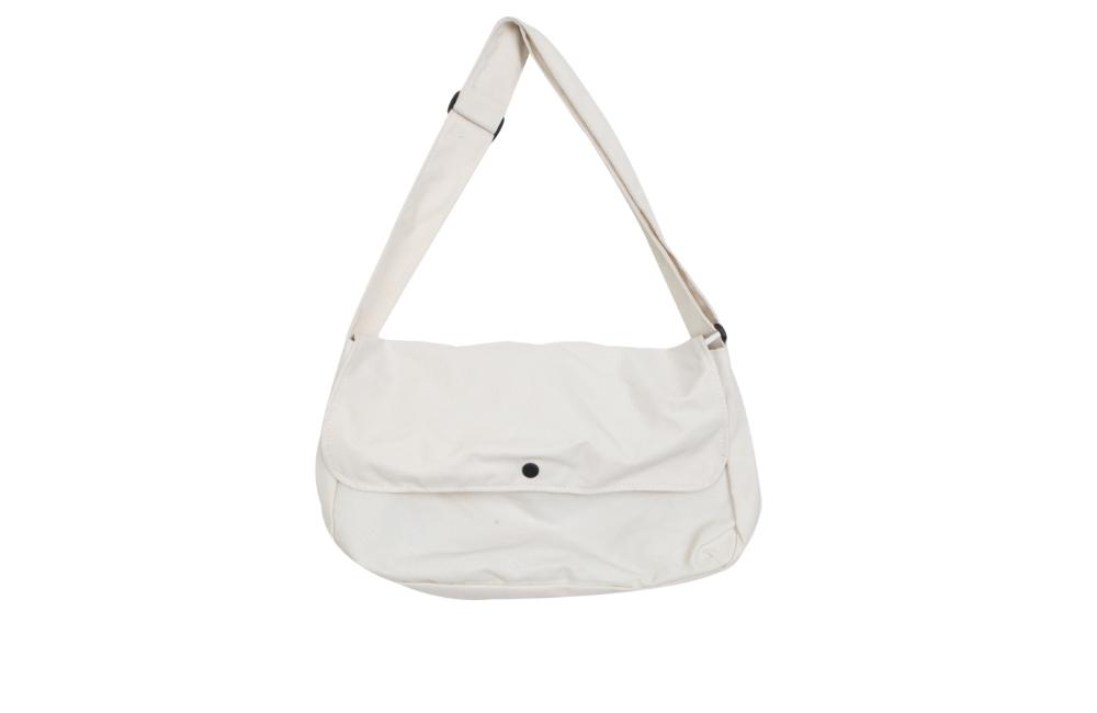 Round Canvas Messenger Bag