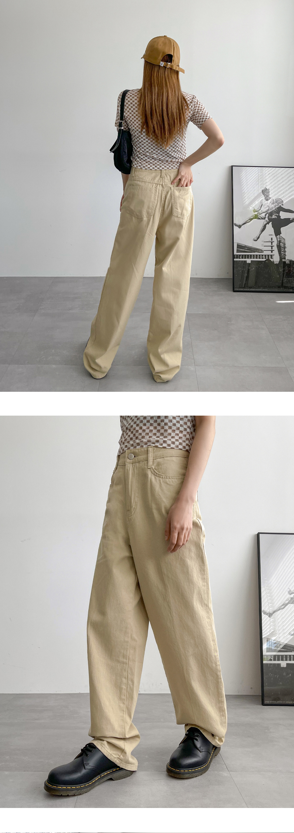 Tailed Summer Wide Cotton Trousers