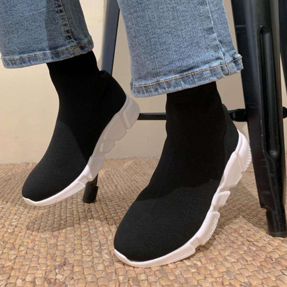 Cushion Running Knitwear Socks Sneakers S#JI054