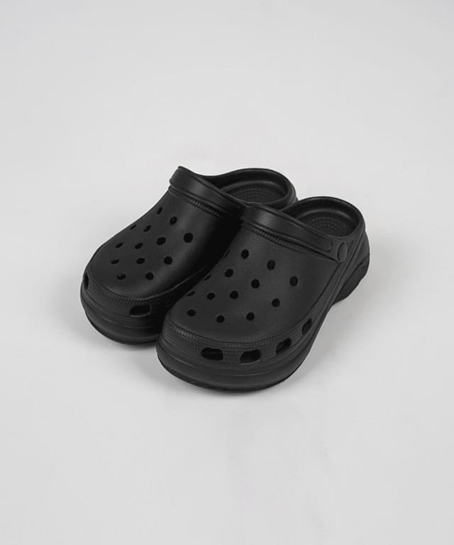 Mariko platform crox slippers