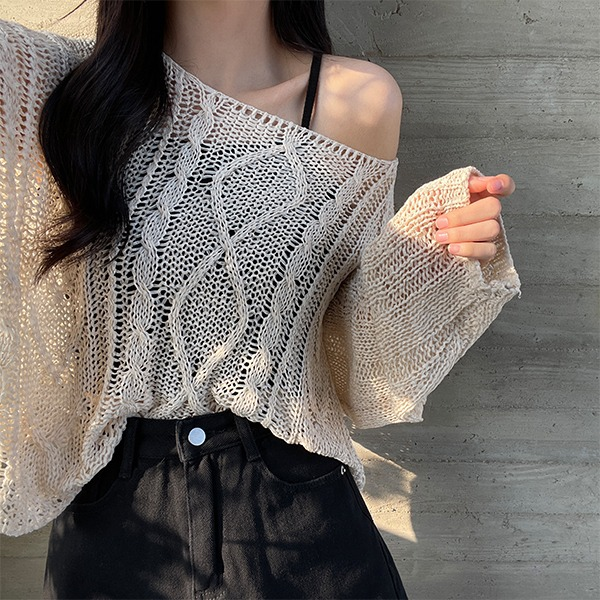 Fluffy, Twisted Loose-fit Knitwear