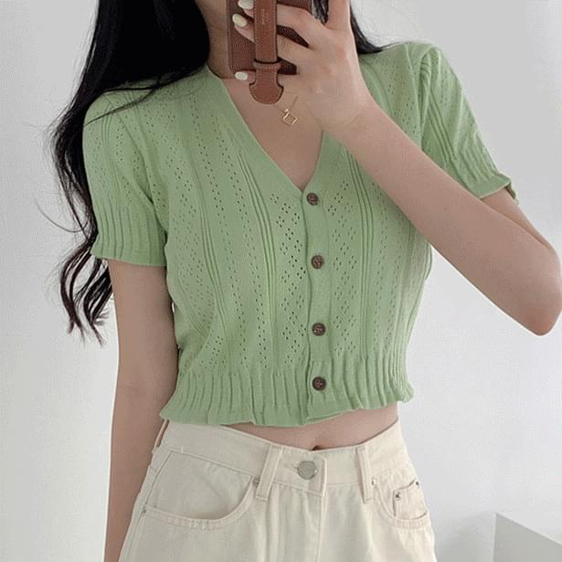 Dazz Frill Crop Knitwear t *cumulative (Delayed delivery)