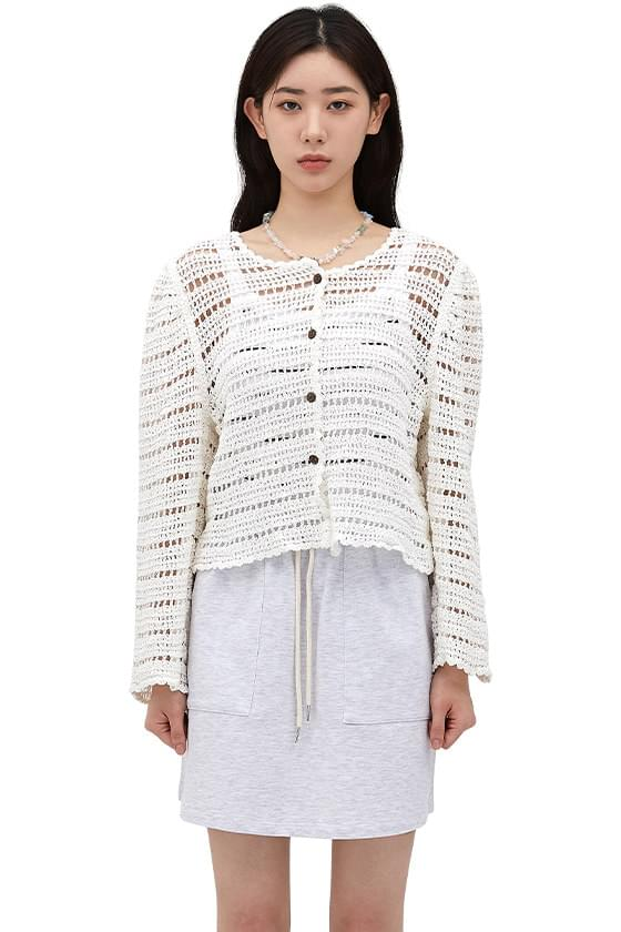 Under Crochet Knitwear Cardigan