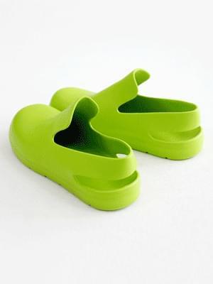 Smooth Aqua Rubber Sandals 2cm