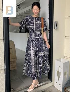 Paisley Pattern Long Dress