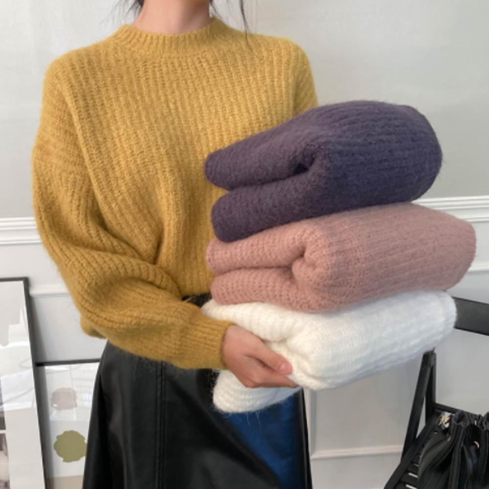 Tok Tok Color Round Knit T#YW196