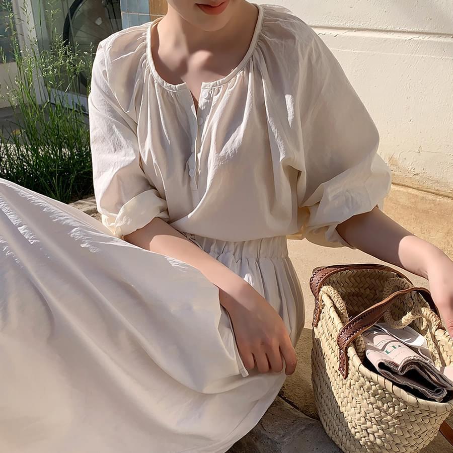 Sander ruched blouse
