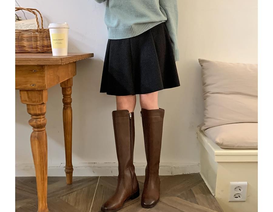 Joy flared knit midi skirt