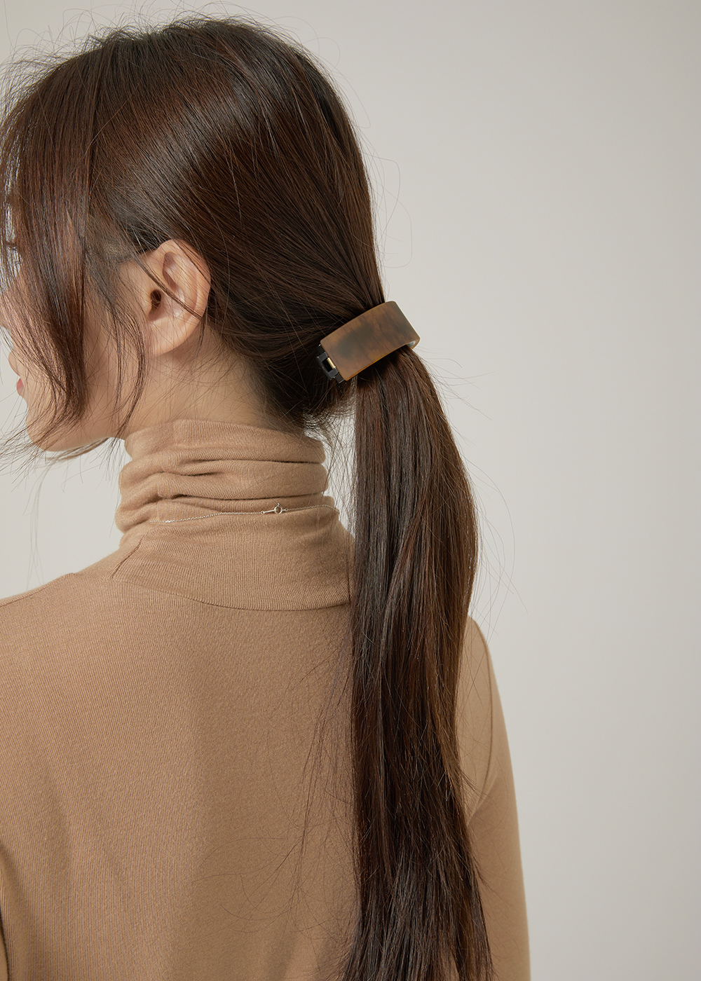 Wood square hairpin