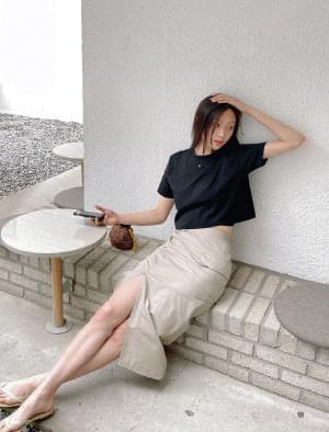 Kera pocket H-line chinos skirt