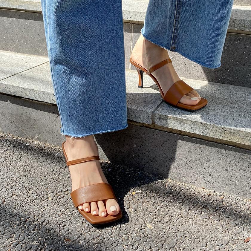 alyssa strap mules slippers