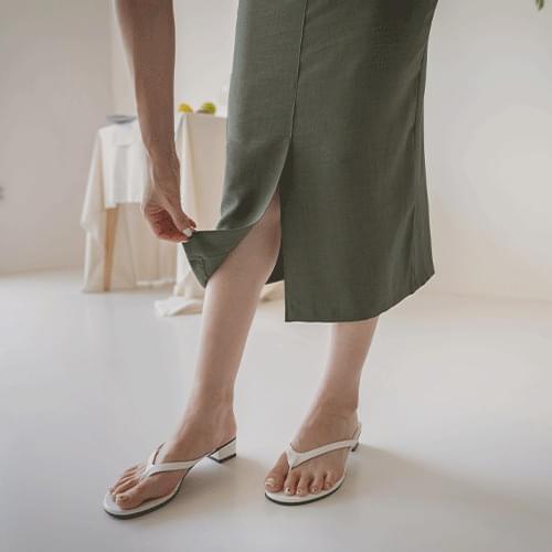 Bienne linen H-line skirt
