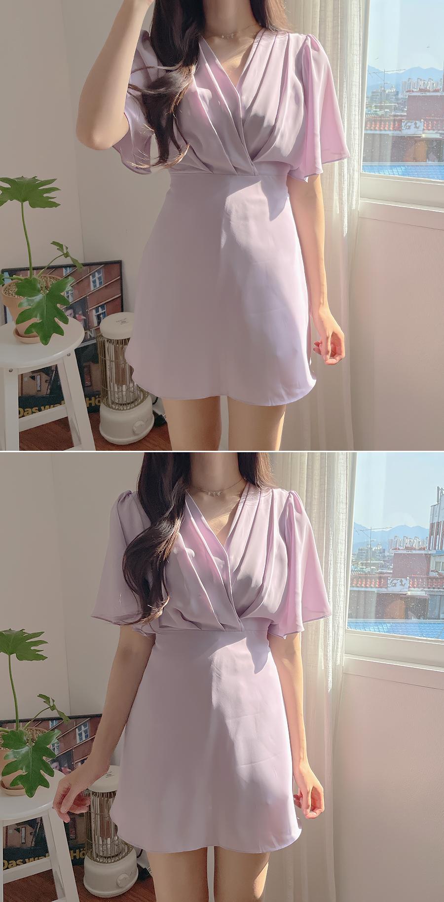 Luna Pintuck Jumpsuit Dress 4color