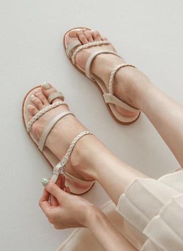 韓國空運 - Felice Twist Strap Torring Sandals SDLTR2d134 涼鞋