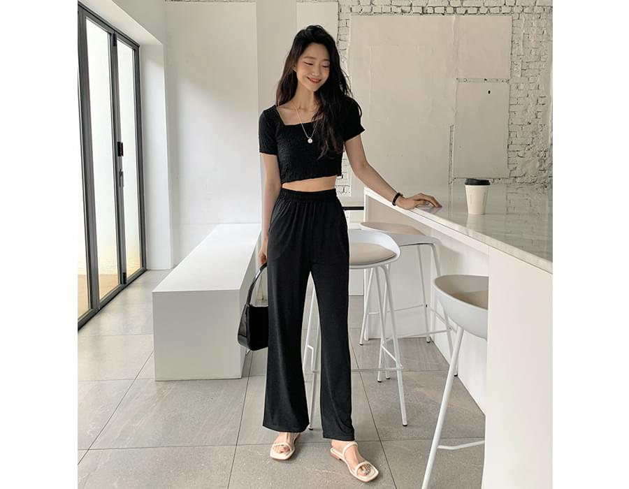 Cooling Flared Banding Pants
