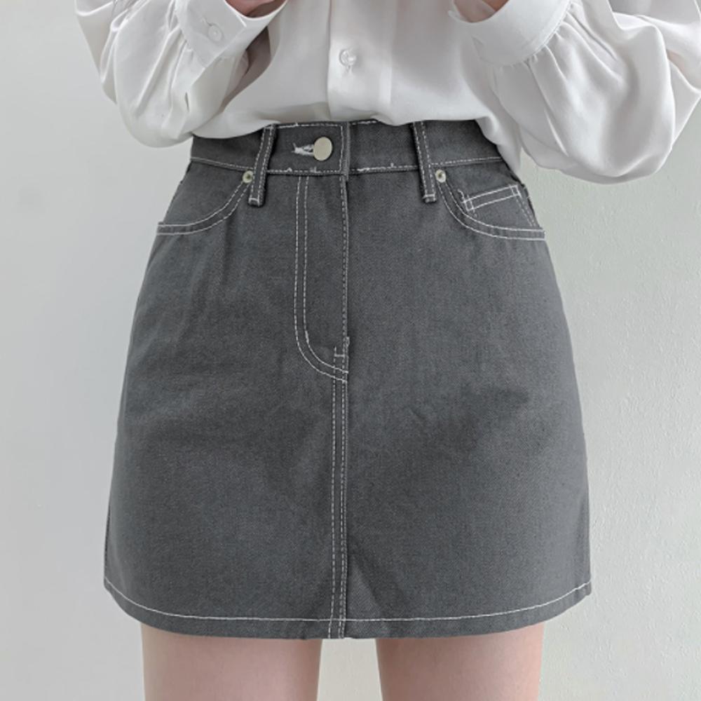 Stitch Blue Denim Mini Skirt P#YW617