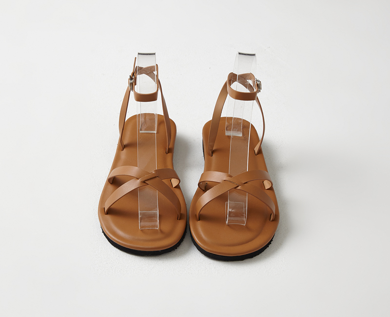 crosscover latex sandals