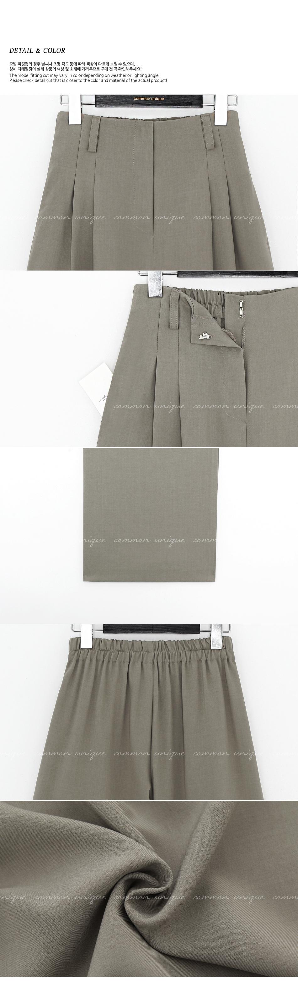 Semi-Elasticized Waist Pleated Slacks