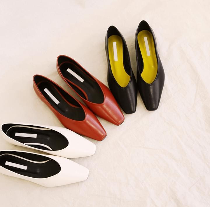 Square Toe Glove Flats